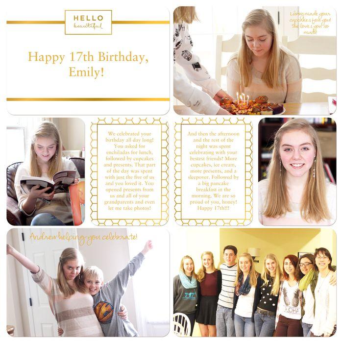 Em's 17th birthday